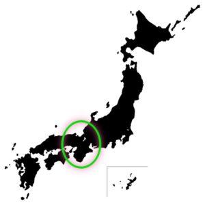 日本地図モノクロ